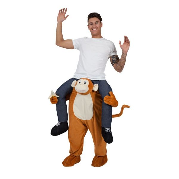 Adults Carry Me Monkey Costume for Chimpanzee Ape Cheeky Animal Primate Fancy Dress